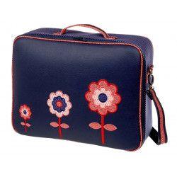 Valise fille rouge et bleue