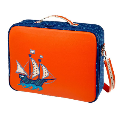 Valise garçon pirate orange