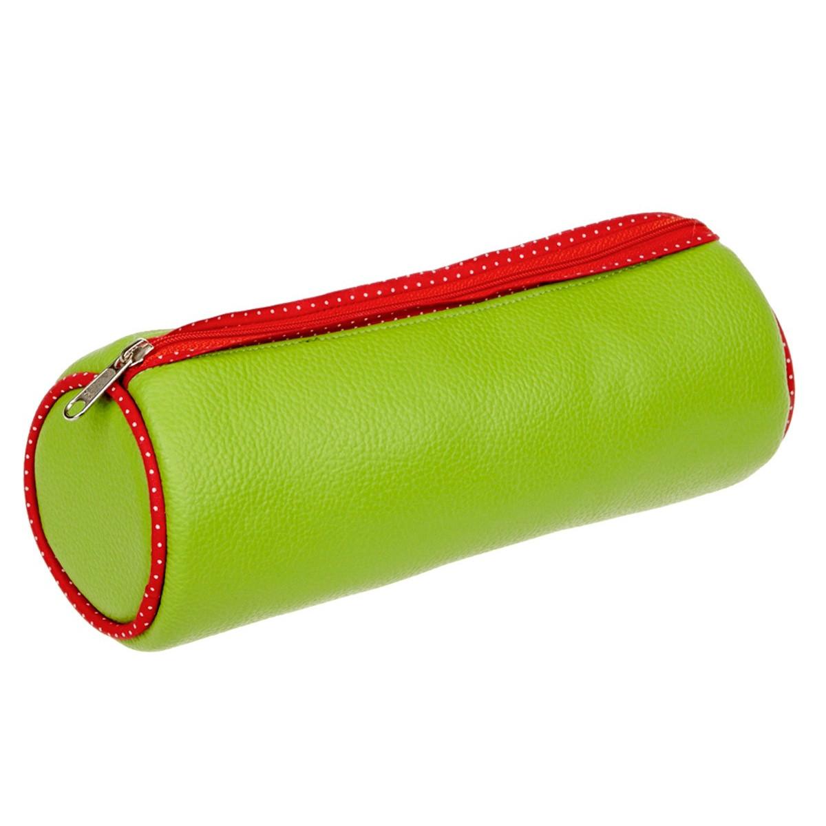 Trousse d'école vert et rouge