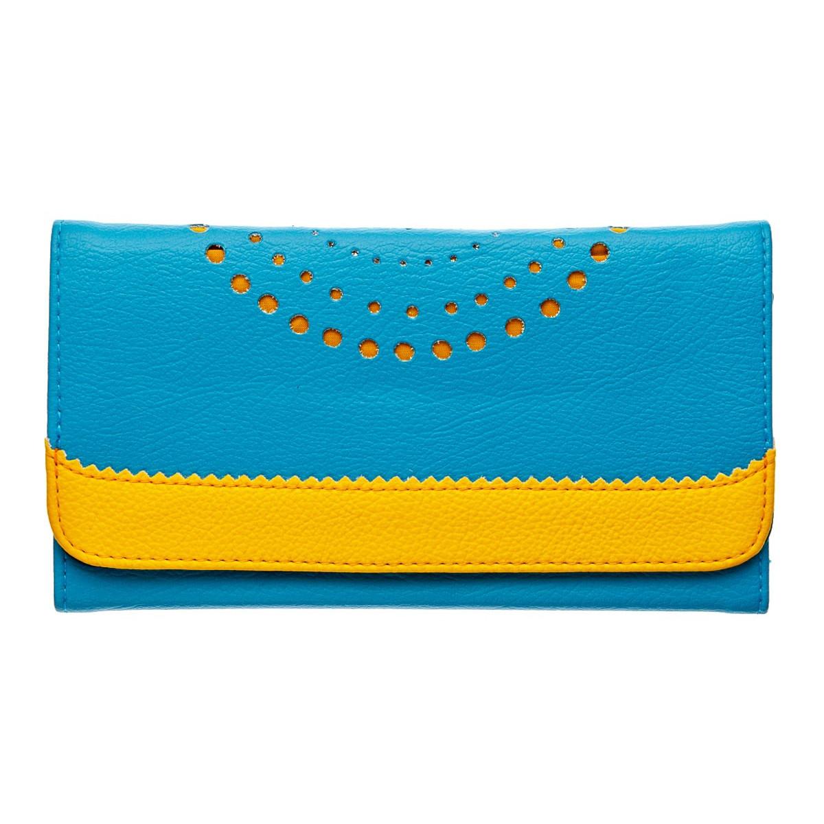 Compagnon femme jaune et bleu