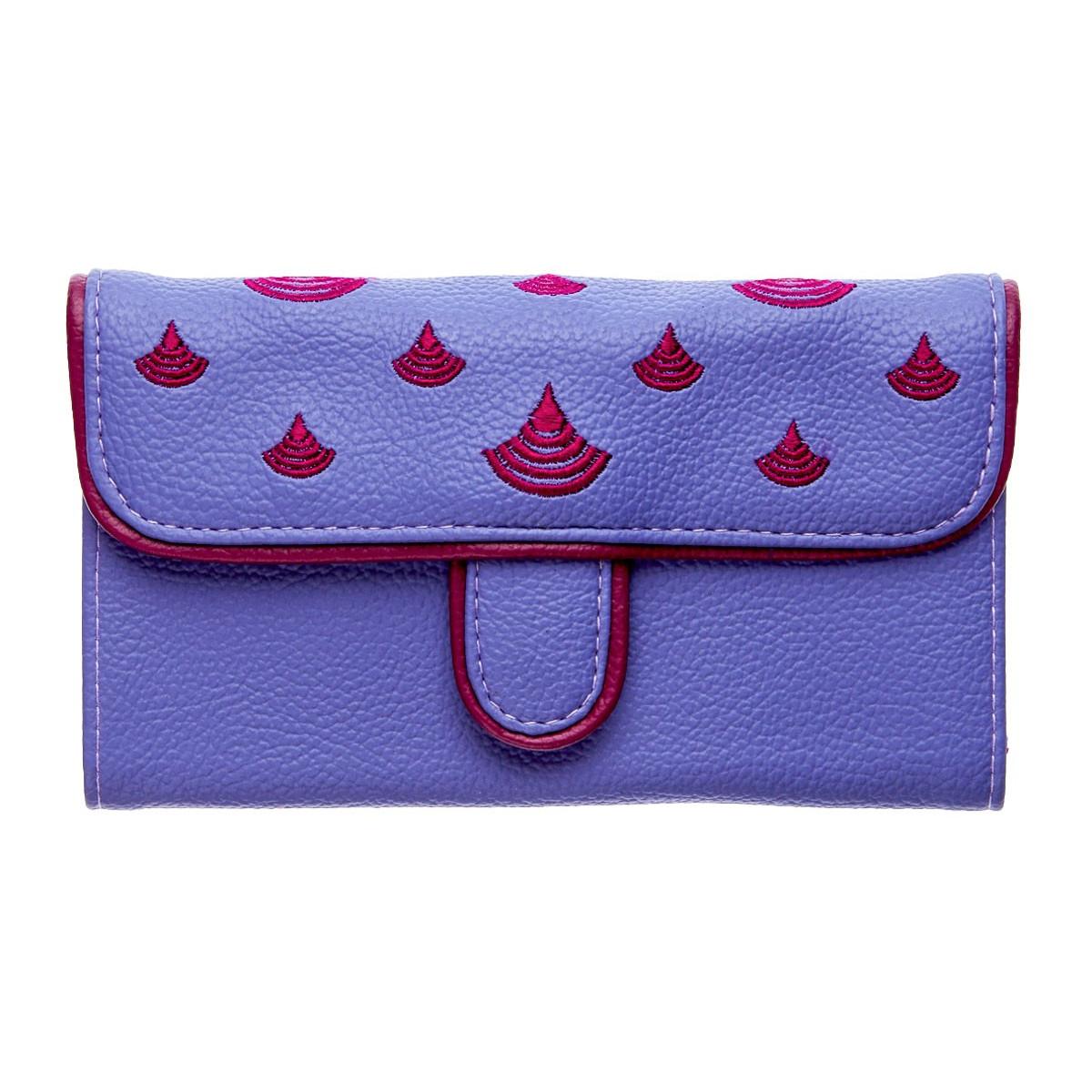 Portefeuille femme coloré violet