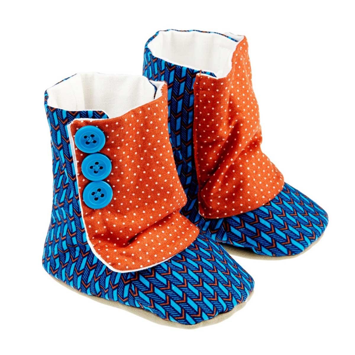 Bottines chaussons souples bébé