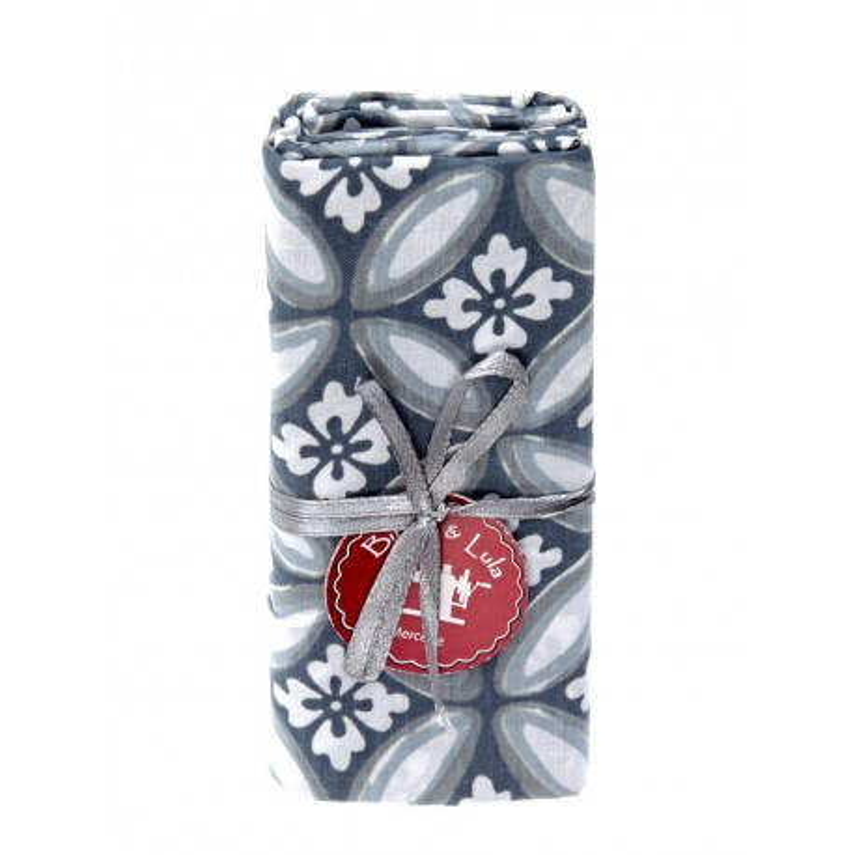 Coupon tissu azulejos gris