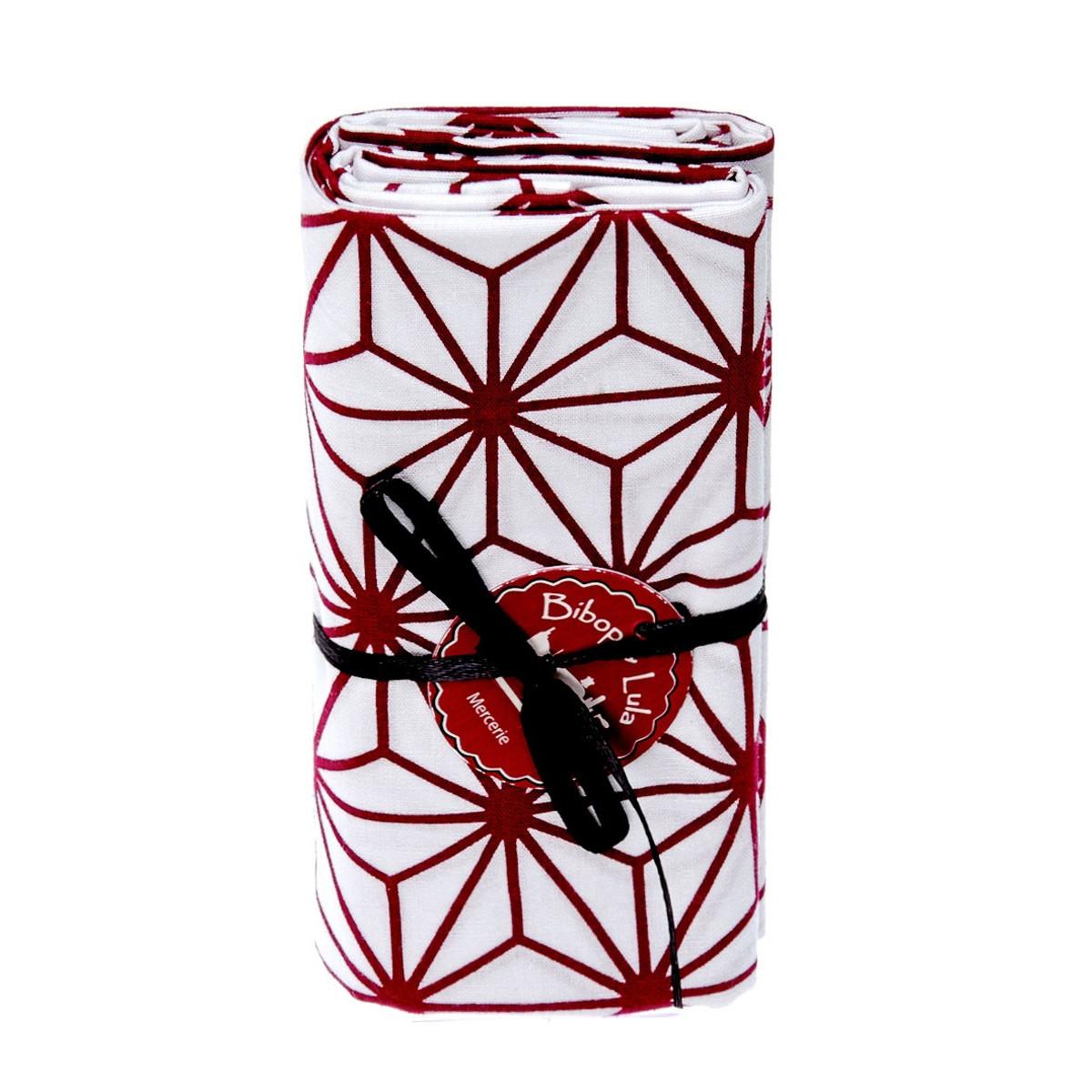 Coupon tissu asanoha prune