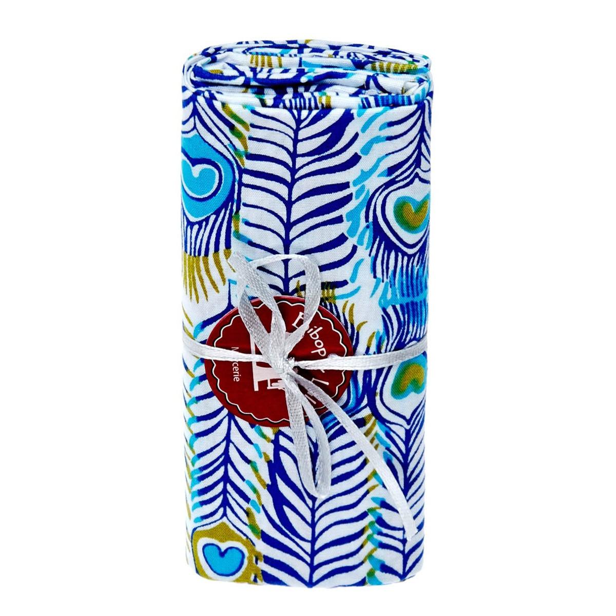 Coupon tissu pikok bleu