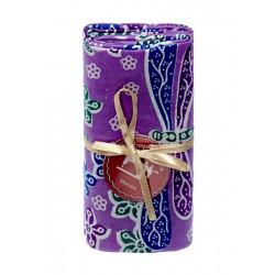Coupon tissu libellule violet