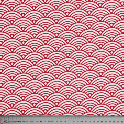 Tissu coton nami rouge