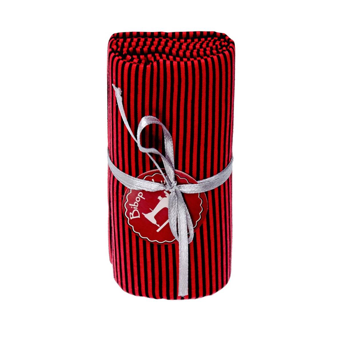 Coupon tissu red stripes