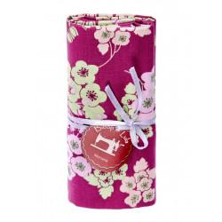 Coupon tissu flores rose
