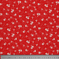 Tissu coton red cherry