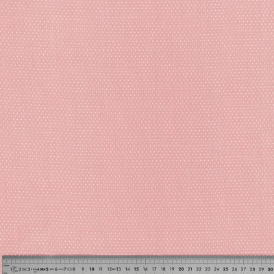 Tissu coton petit pois rose dragée