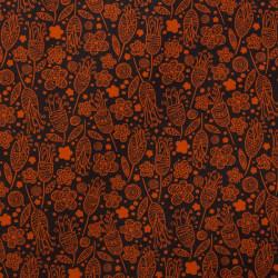 Tissu coton capucine orange
