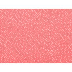 Tissu coton petit pois capucine