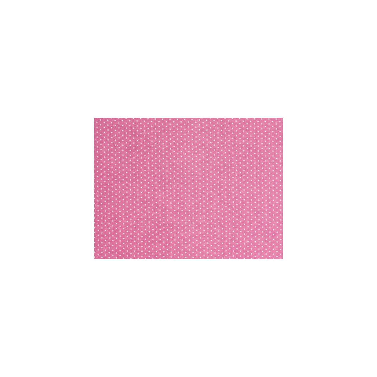 Tissu coton petit pois rose