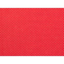 Tissu coton petit pois rouge