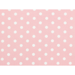 Tissu coton pois rose dragée