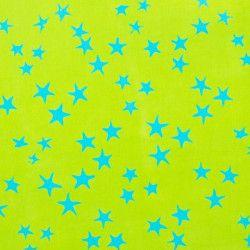 Tissu coton blue star
