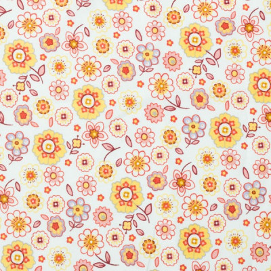 Tissu coton flora