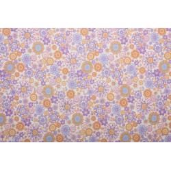 Tissu coton flora lila