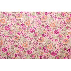 Tissu coton lula rose