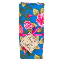 Coupon tissu pink pivoine