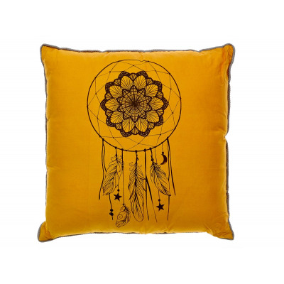 Coussin Dream catcher moutarde