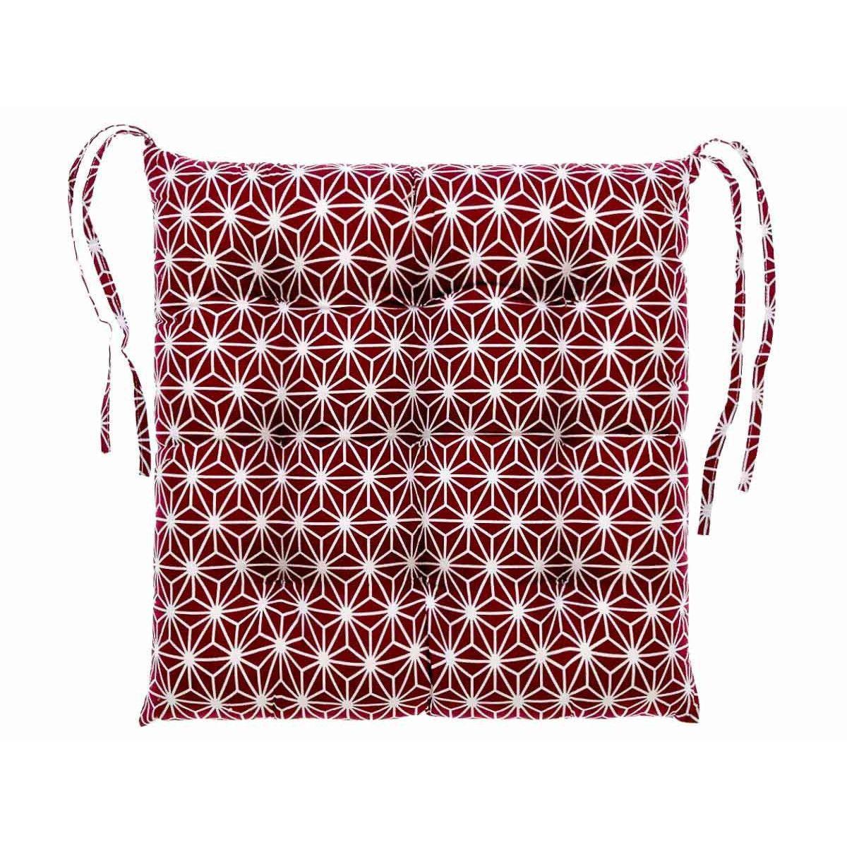 Galette de chaise Asanoha prune