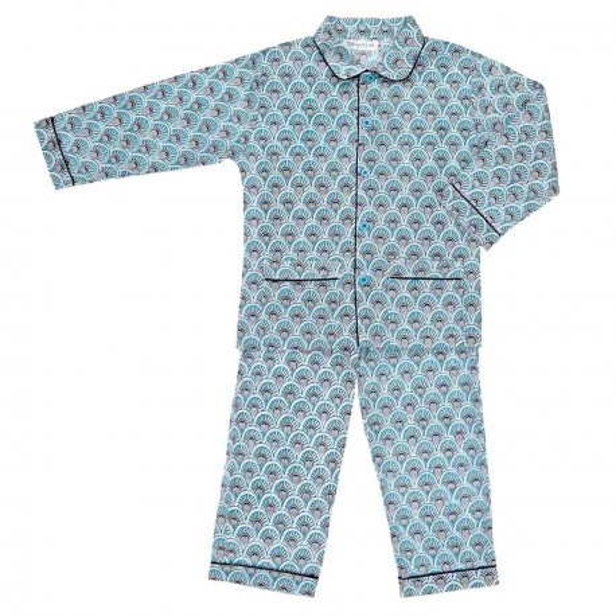 Pyjama enfant coton bleu