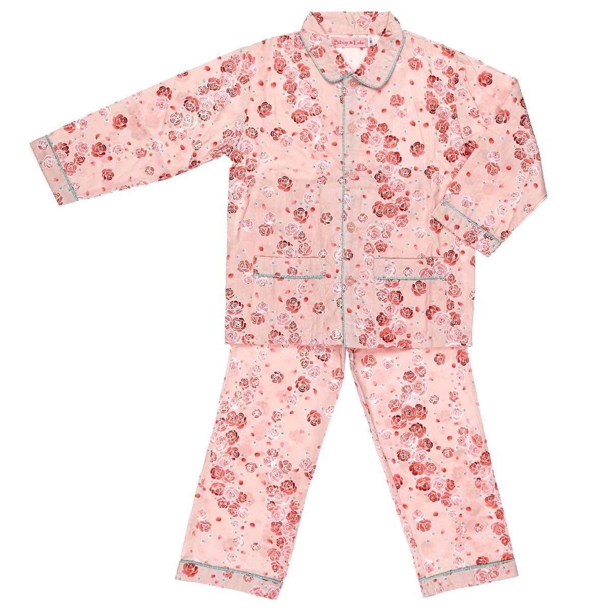 Pyjama fille coton roses