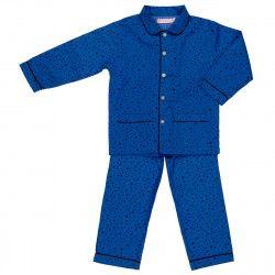 Pyjama enfant coton étoiles bleu