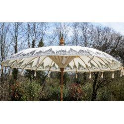 Parasol balinais écru coton diamètre 225cm