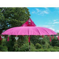 Parasol balinais écru toile imperméable diam:225cm