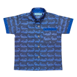Chemise Croco bleu