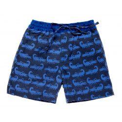 Short de bain Croco bleu