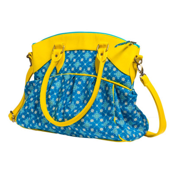 Sac Bowling femme bleu et jaune Najima