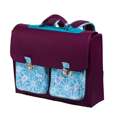 Cartable primaire fille bleu original Rosalie