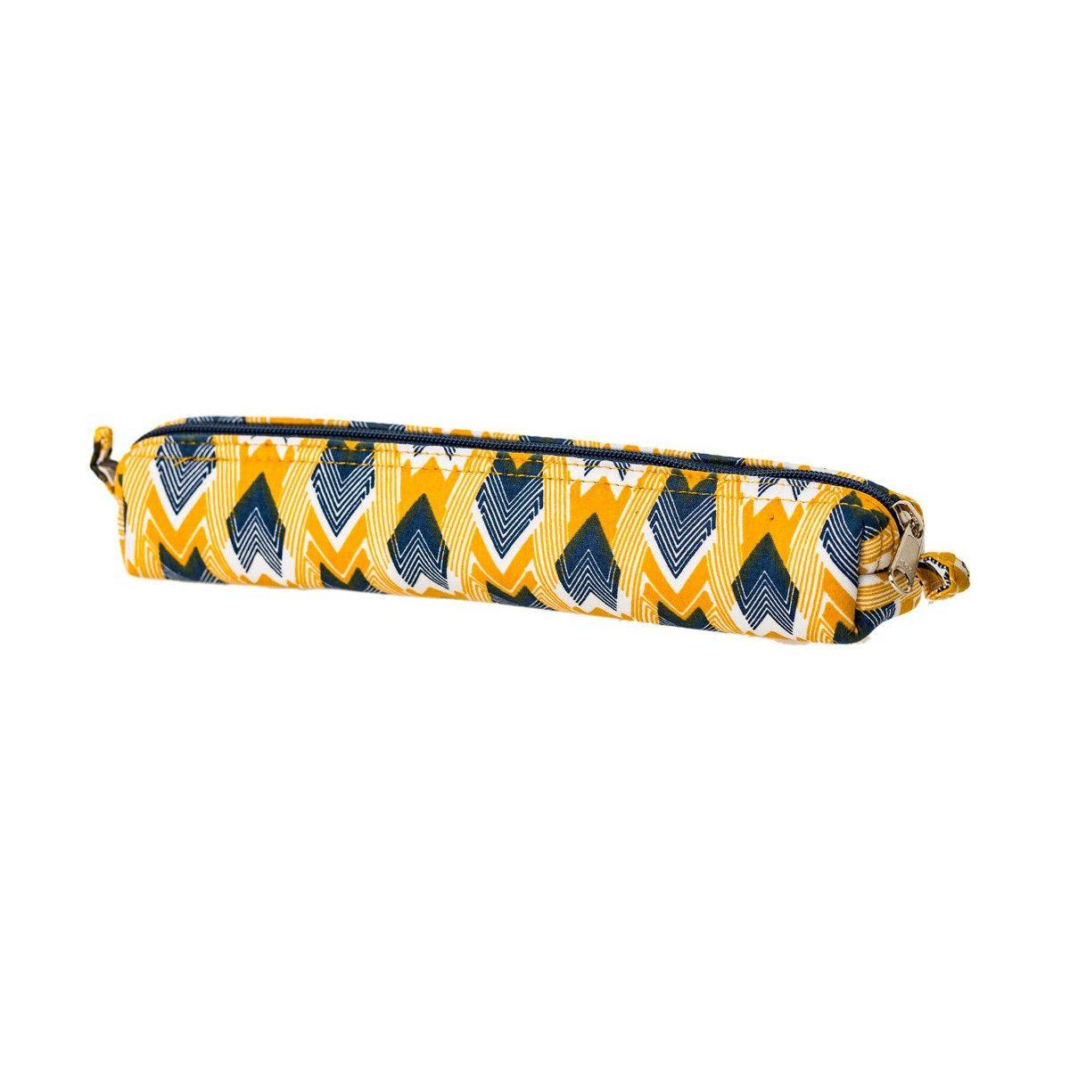 Petite trousse tissu original Panah jaune et bleu
