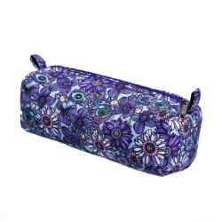 Trousse tissu original Lola fleurs violet