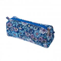 Trousse tissu original Lola fleurs bleu