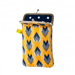 Etui de protection smartphone jaunet et bleu Panah