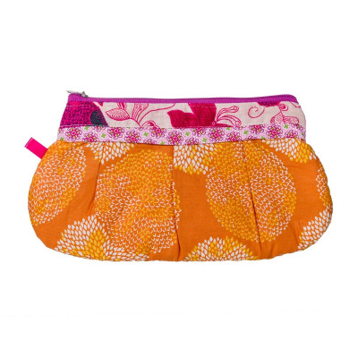 Trousse coton orange Papillons