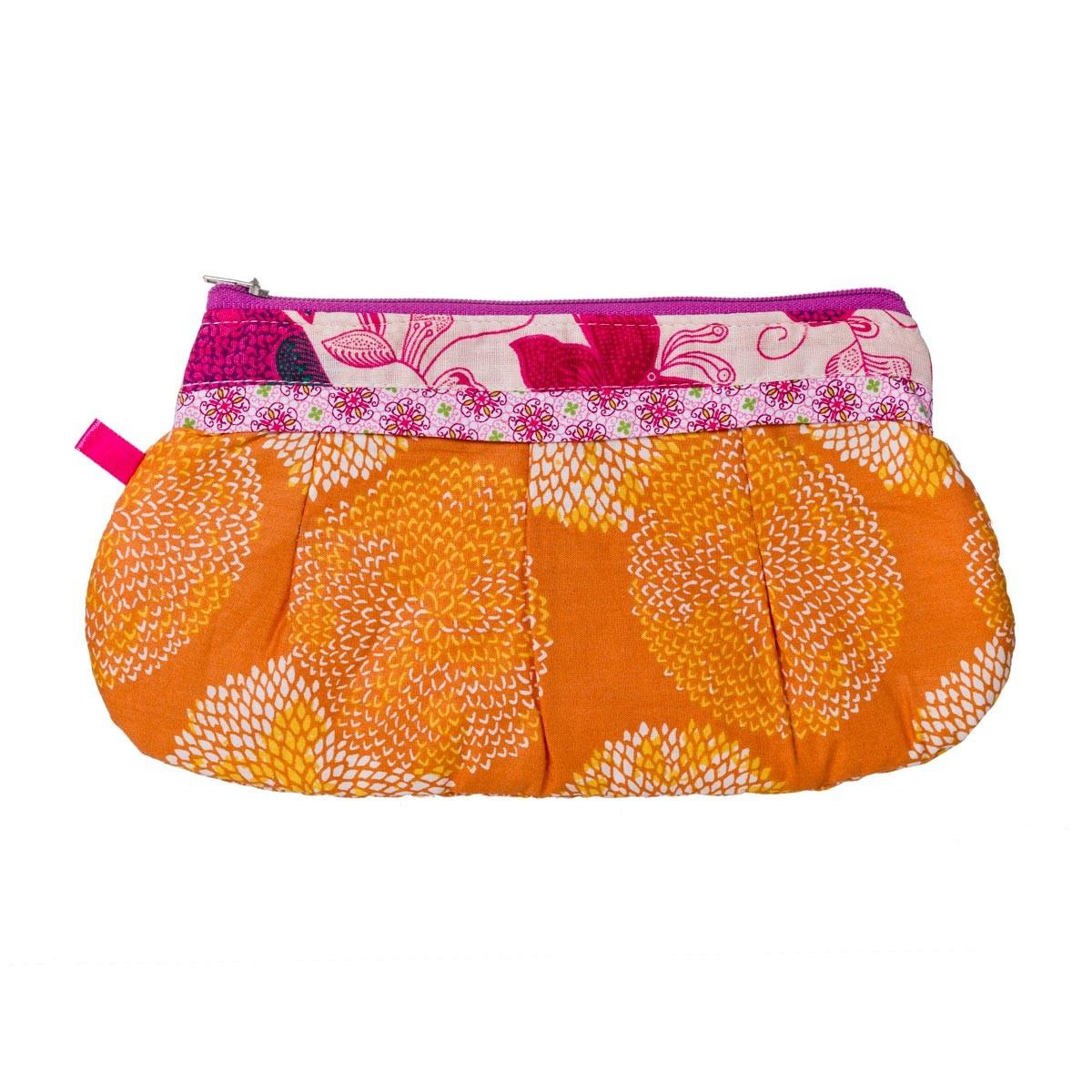 Trousse coton orange Papillons