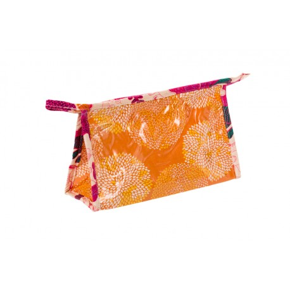 Petite trousse de toilette original tissu orange Papillons
