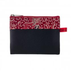Porte-monnaie pochette zippé femme tissu Nao