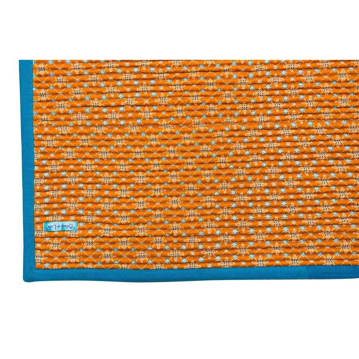 Tapis déco chambre bureau tissu original Najima ocre