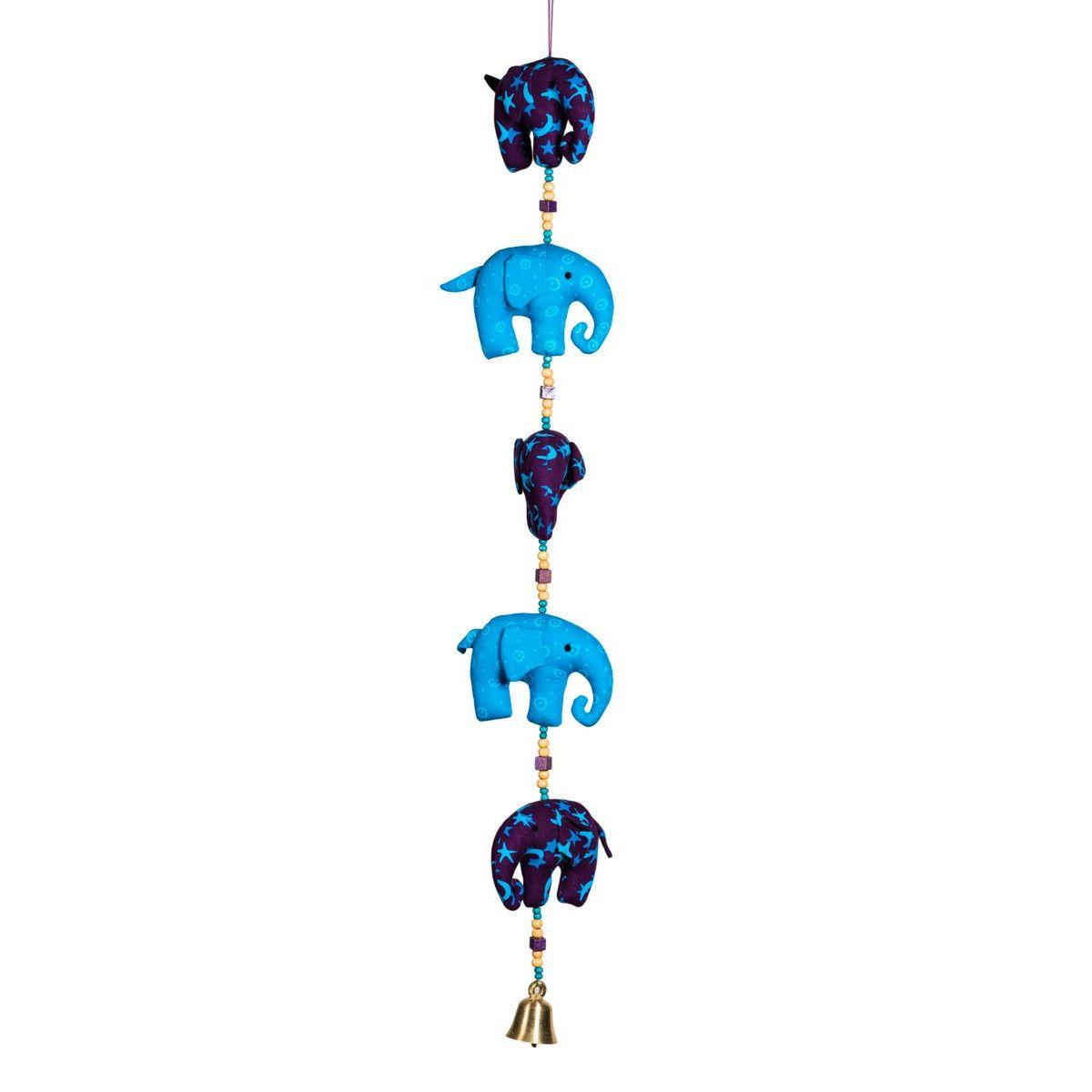 Mobile déco chambre enfant éléphant clochette Gajah