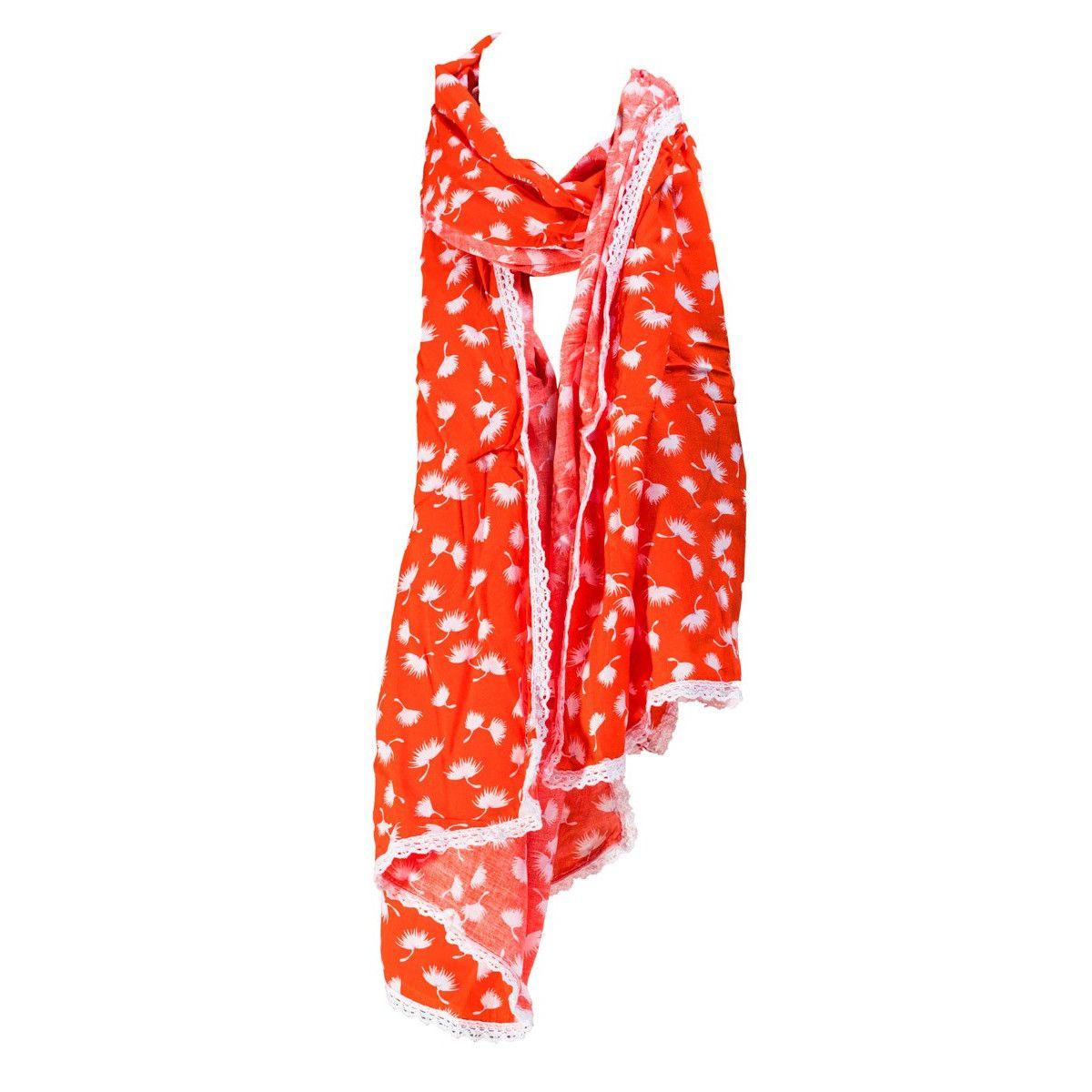 Foulard femme coton orange Masika