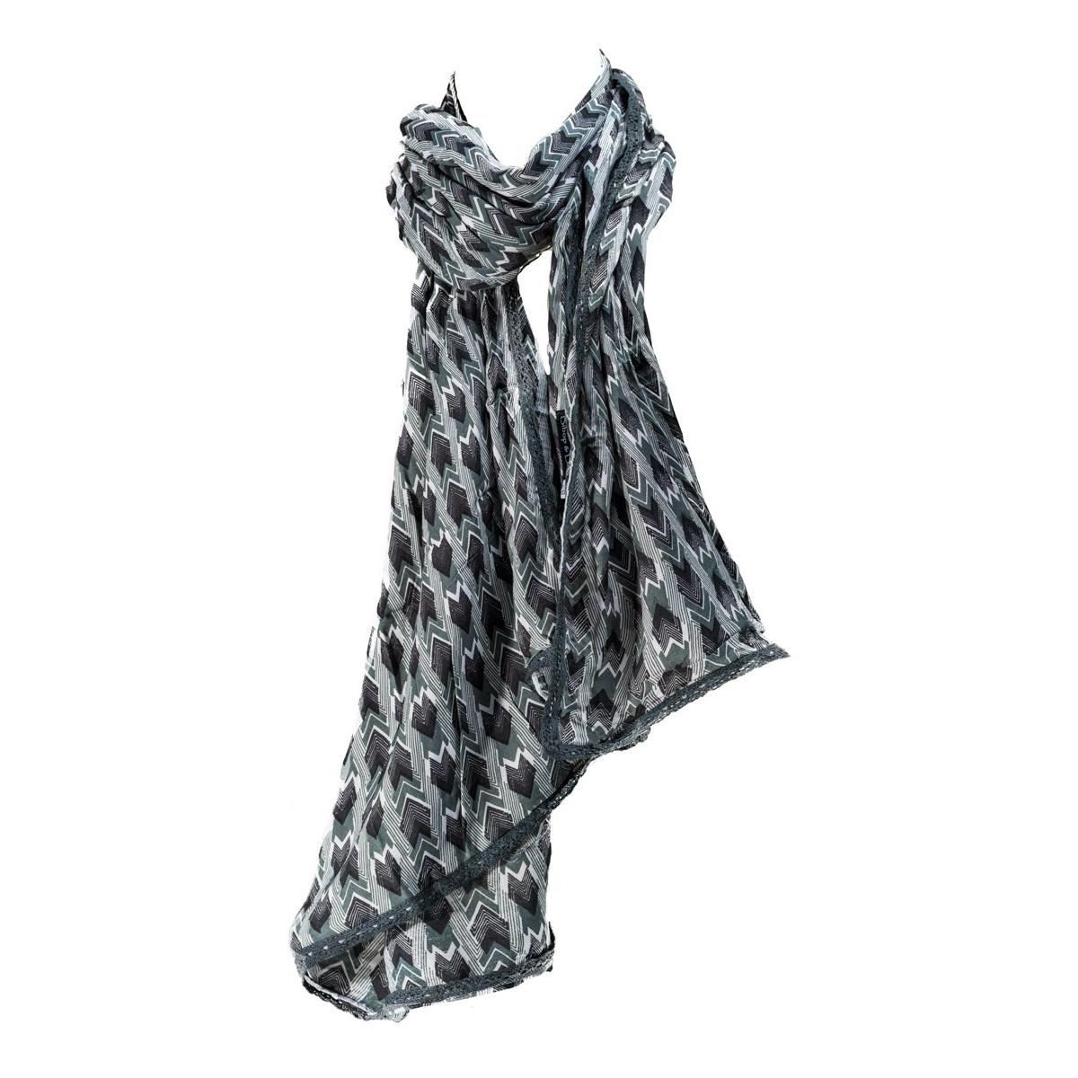 Foulard femme coton doux Panah gris