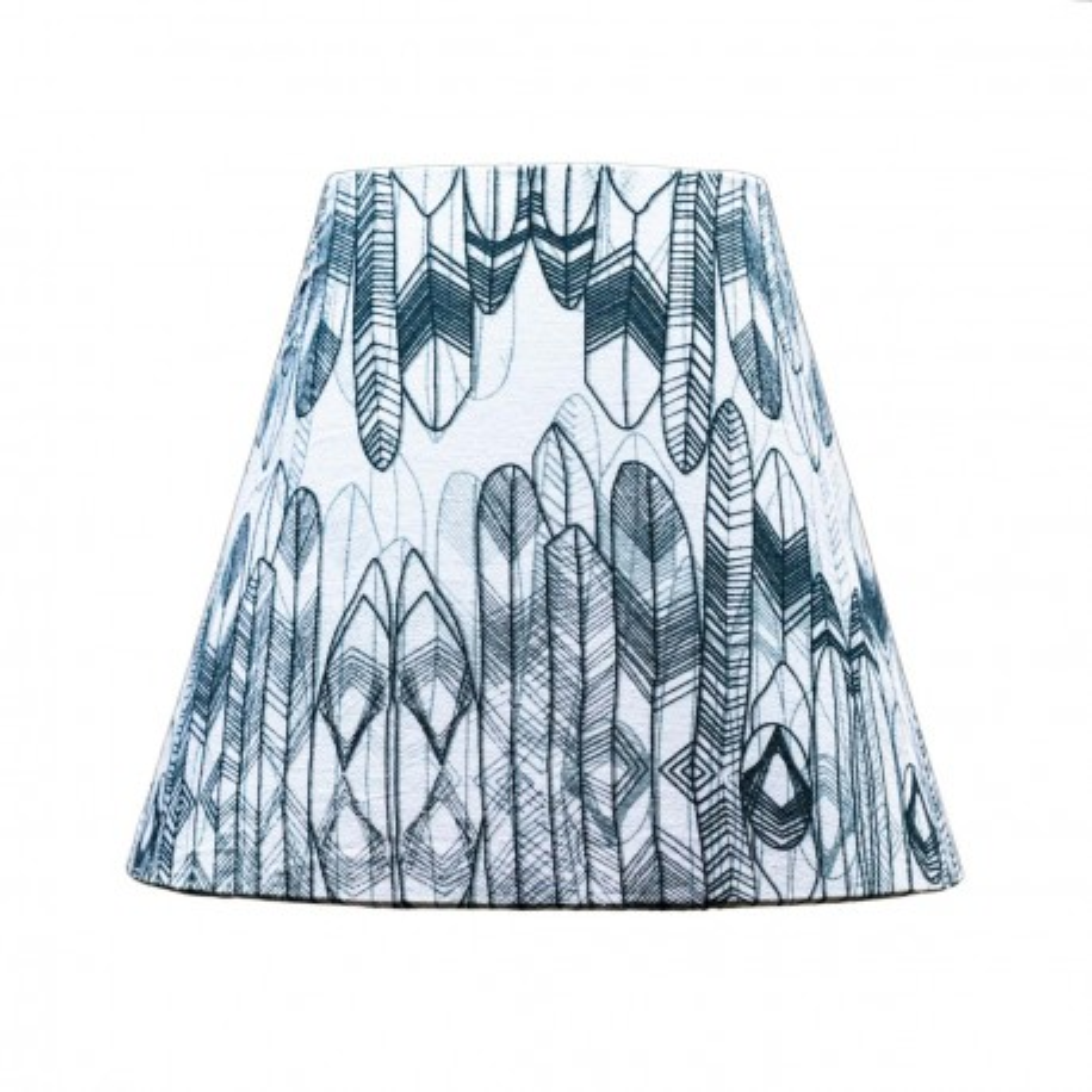 Abat-jour lampe de chevet tissu imprimé design Dakota
