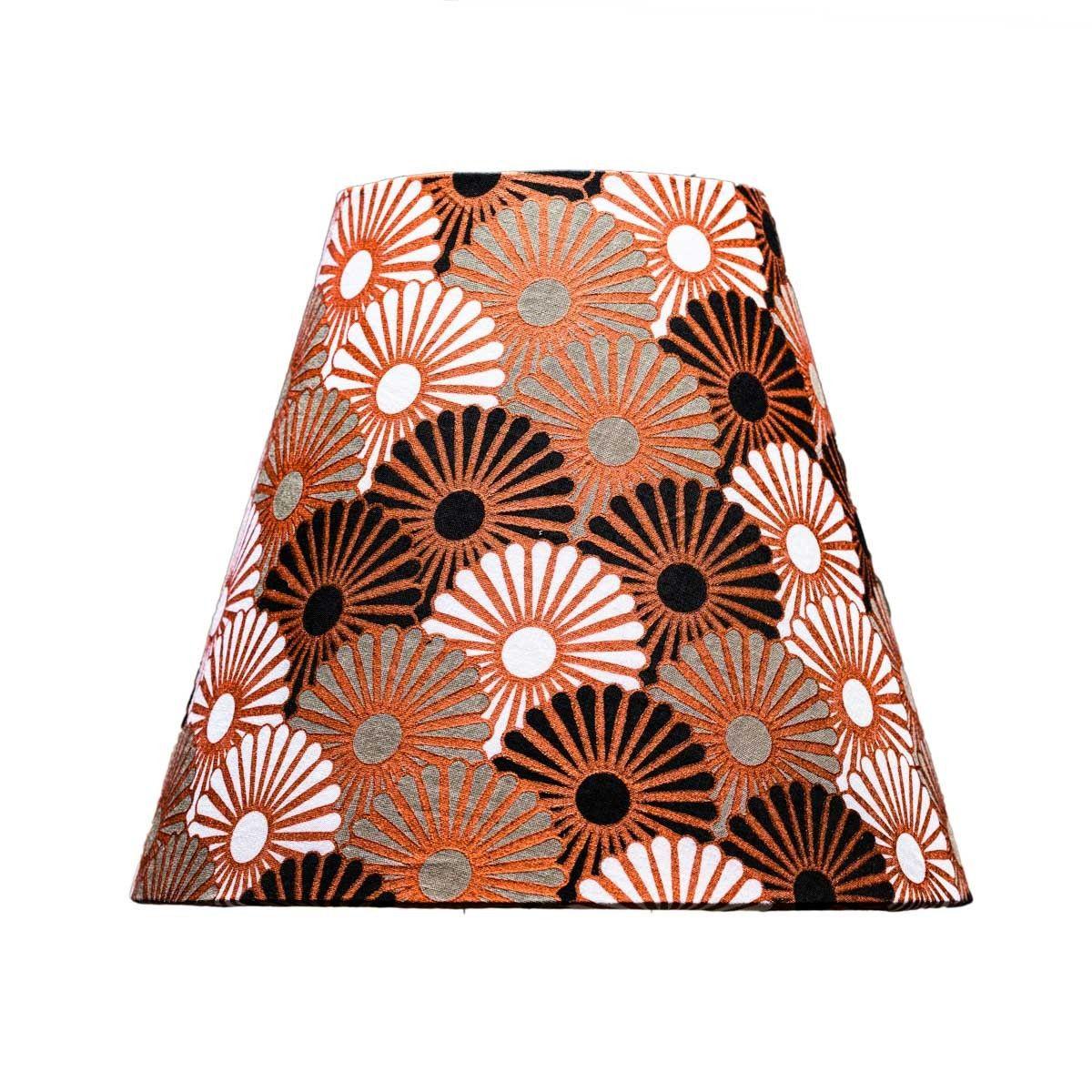 Abat-jour lampe de chevet tissu imprimé original chocolat et noir